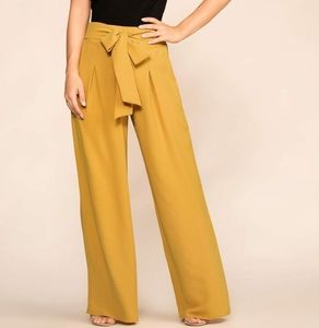 Windsor Wide Leg Belted Trousers Size XL